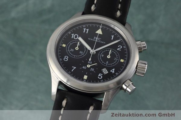 Used luxury watch IWC Fliegerchronograph chronograph steel quartz Kal. 630 Ref. 3741  | 152493 04