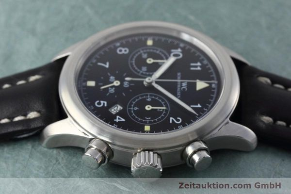 Used luxury watch IWC Fliegerchronograph chronograph steel quartz Kal. 630 Ref. 3741  | 152493 05