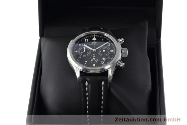 Used luxury watch IWC Fliegerchronograph chronograph steel quartz Kal. 630 Ref. 3741  | 152493 07