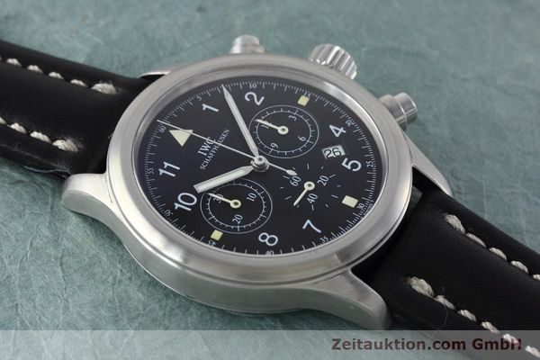 Used luxury watch IWC Fliegerchronograph chronograph steel quartz Kal. 630 Ref. 3741  | 152493 13