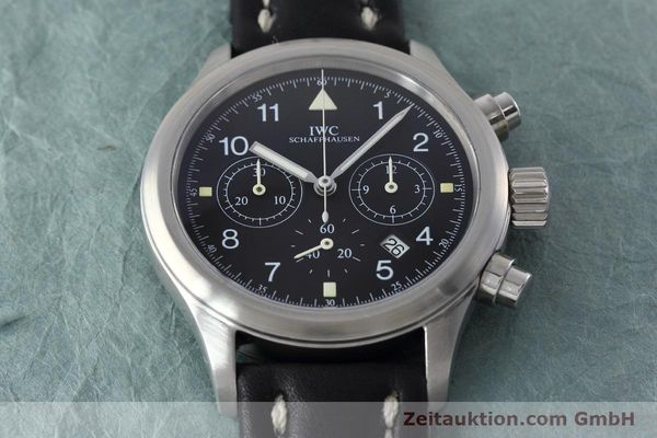 Used luxury watch IWC Fliegerchronograph chronograph steel quartz Kal. 630 Ref. 3741  | 152493 14