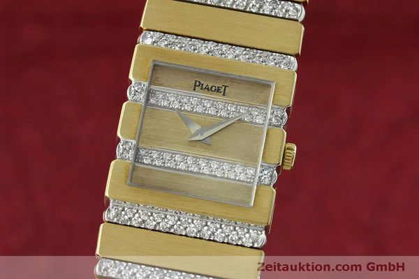 Used luxury watch Piaget Polo 18 ct gold quartz Kal. 8P1 Ref. 8131C705  | 152507 04