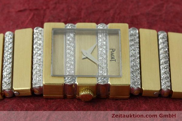 Used luxury watch Piaget Polo 18 ct gold quartz Kal. 8P1 Ref. 8131C705  | 152507 05