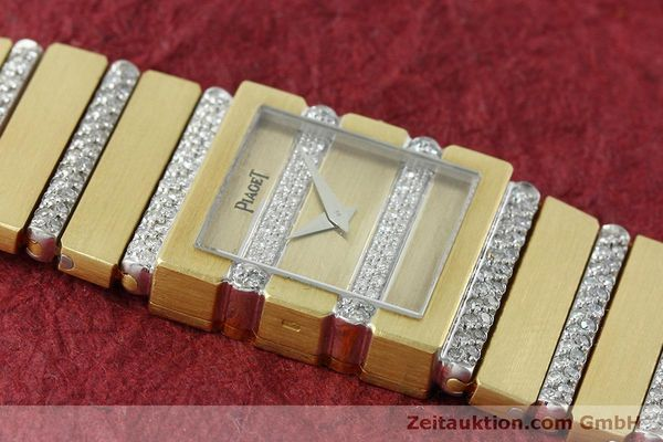 Used luxury watch Piaget Polo 18 ct gold quartz Kal. 8P1 Ref. 8131C705  | 152507 14