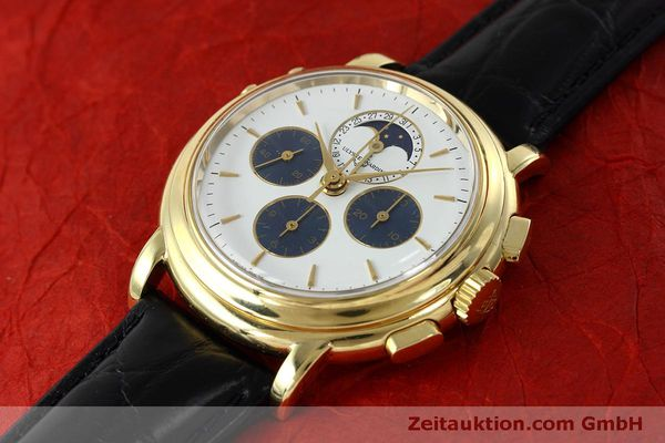 Used luxury watch Ulysse Nardin * chronograph 18 ct gold manual winding Kal. LWO 2612  | 152508 01