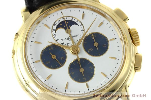 Used luxury watch Ulysse Nardin * chronograph 18 ct gold manual winding Kal. LWO 2612  | 152508 02