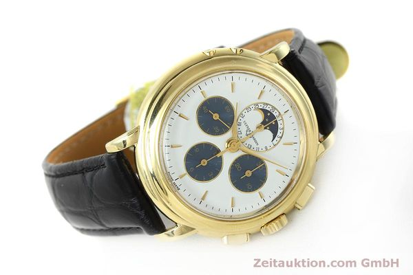 Used luxury watch Ulysse Nardin * chronograph 18 ct gold manual winding Kal. LWO 2612  | 152508 03