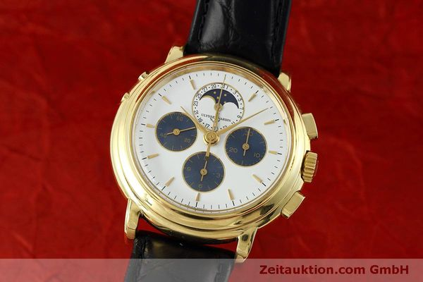 Used luxury watch Ulysse Nardin * chronograph 18 ct gold manual winding Kal. LWO 2612  | 152508 04