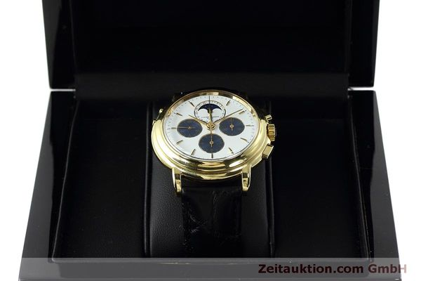 Used luxury watch Ulysse Nardin * chronograph 18 ct gold manual winding Kal. LWO 2612  | 152508 07
