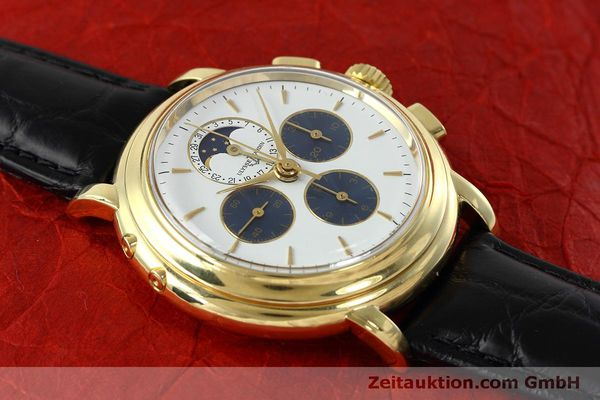Used luxury watch Ulysse Nardin * chronograph 18 ct gold manual winding Kal. LWO 2612  | 152508 13