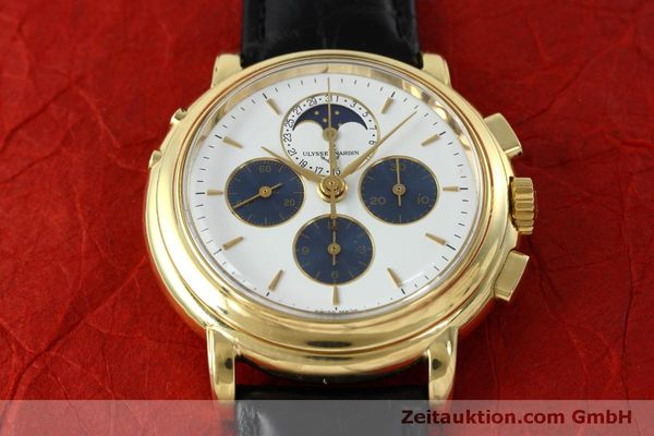 Used luxury watch Ulysse Nardin * chronograph 18 ct gold manual winding Kal. LWO 2612  | 152508 14