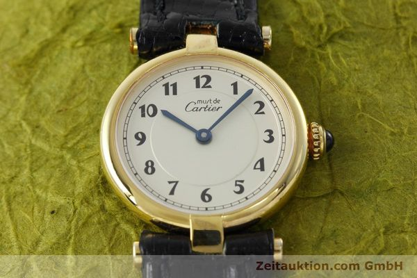 Used luxury watch Cartier Vermeil silver-gilt quartz Kal. 90  | 152510 12