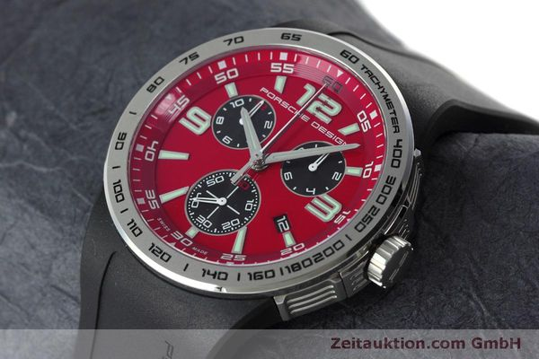 Used luxury watch Porsche Design Flat Six chronograph steel quartz Kal. ETA 251.262 Ref. P6320  | 152523 01