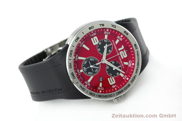 Used luxury watch Porsche Design Flat Six chronograph steel quartz Kal. ETA 251.262 Ref. P6320  | 152523 03