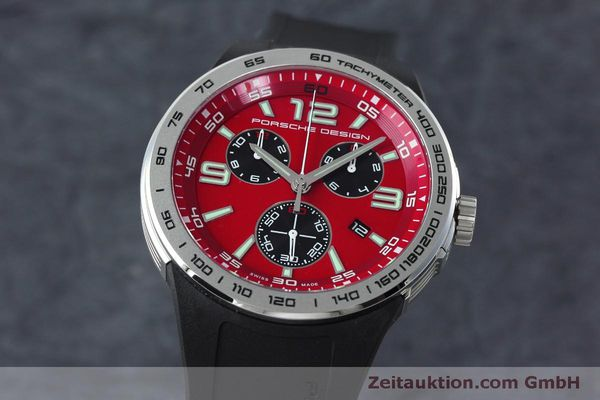 Used luxury watch Porsche Design Flat Six chronograph steel quartz Kal. ETA 251.262 Ref. P6320  | 152523 04