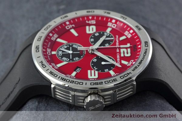 Used luxury watch Porsche Design Flat Six chronograph steel quartz Kal. ETA 251.262 Ref. P6320  | 152523 05