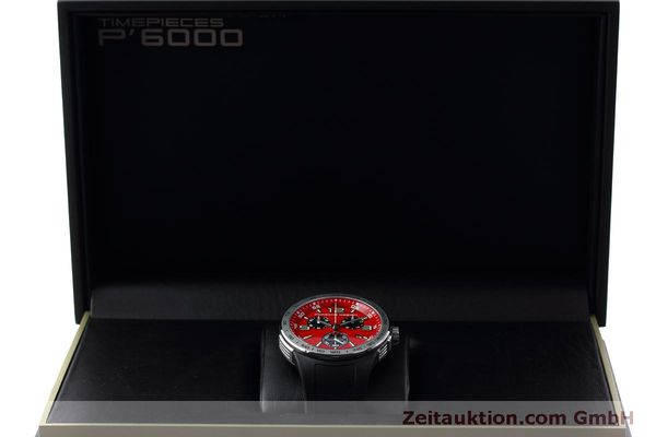 Used luxury watch Porsche Design Flat Six chronograph steel quartz Kal. ETA 251.262 Ref. P6320  | 152523 07