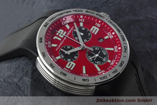 Used luxury watch Porsche Design Flat Six chronograph steel quartz Kal. ETA 251.262 Ref. P6320  | 152523 14