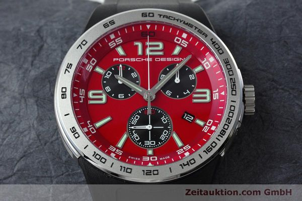 Used luxury watch Porsche Design Flat Six chronograph steel quartz Kal. ETA 251.262 Ref. P6320  | 152523 15