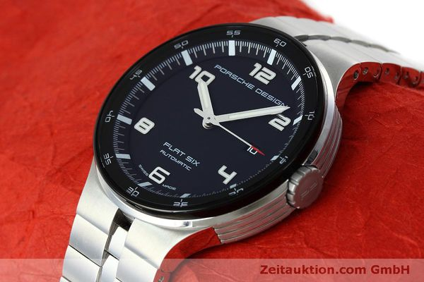 Used luxury watch Porsche Design Flat Six steel automatic Kal. SW300 Ref. P6350.42  | 152524 01