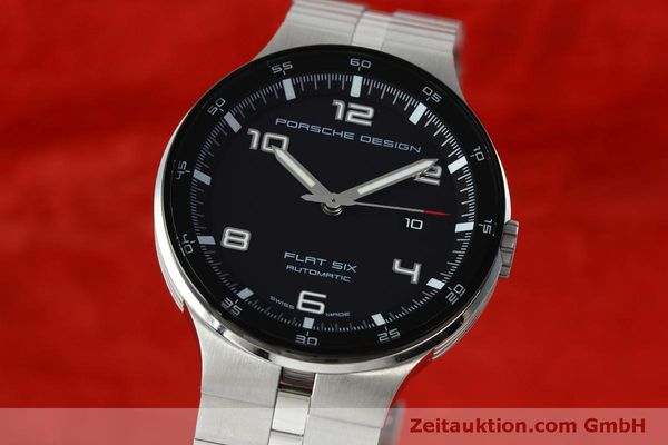Used luxury watch Porsche Design Flat Six steel automatic Kal. SW300 Ref. P6350.42  | 152524 04