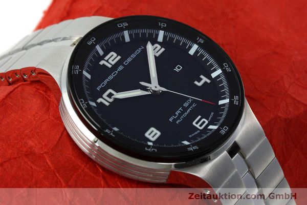 Used luxury watch Porsche Design Flat Six steel automatic Kal. SW300 Ref. P6350.42  | 152524 15