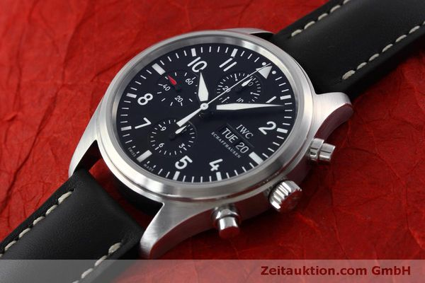 Used luxury watch IWC Fliegeruhr chronograph steel automatic Kal. 79320 Ref. IW371701  | 152529 01