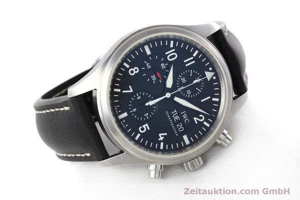 Used luxury watch IWC Fliegeruhr chronograph steel automatic Kal. 79320 Ref. IW371701  | 152529 03