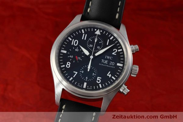 Used luxury watch IWC Fliegeruhr chronograph steel automatic Kal. 79320 Ref. IW371701  | 152529 04