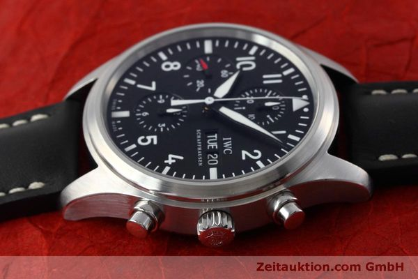 Used luxury watch IWC Fliegeruhr chronograph steel automatic Kal. 79320 Ref. IW371701  | 152529 05
