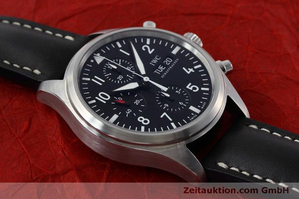 Used luxury watch IWC Fliegeruhr chronograph steel automatic Kal. 79320 Ref. IW371701  | 152529 16