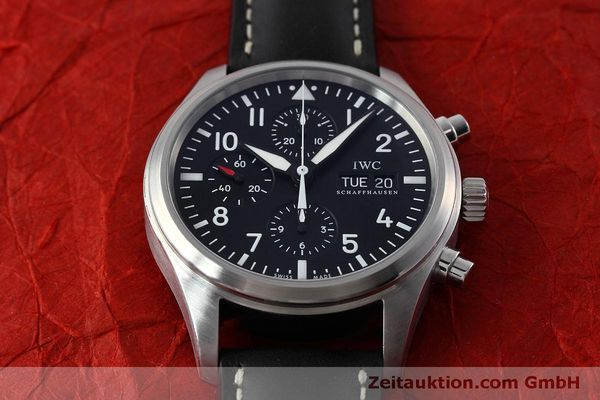 Used luxury watch IWC Fliegeruhr chronograph steel automatic Kal. 79320 Ref. IW371701  | 152529 17
