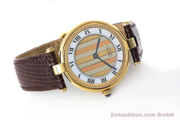 Used luxury watch Cartier Vermeil silver-gilt quartz Kal. 90  | 152547 03