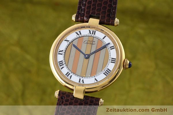 Used luxury watch Cartier Vermeil silver-gilt quartz Kal. 90  | 152547 04