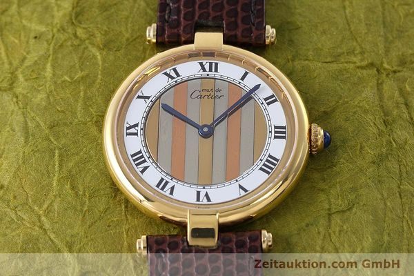 Used luxury watch Cartier Vermeil silver-gilt quartz Kal. 90  | 152547 13