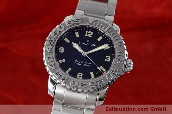 Used luxury watch Blancpain Fifty Fathoms steel automatic Kal. 1151 Ref. 2200-1130-71  | 152552 04