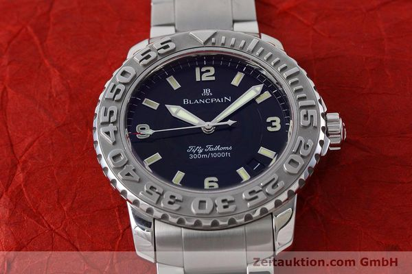 Used luxury watch Blancpain Fifty Fathoms steel automatic Kal. 1151 Ref. 2200-1130-71  | 152552 17