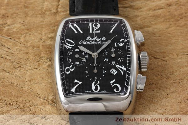 Used luxury watch Dubey & Schaldenbrand Aerochrono chronograph steel automatic Kal. ETA 2094  | 152554 14