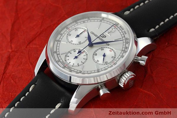 Used luxury watch Girard Perregaux * chronograph steel automatic Kal. Selita  300 Ref. 49480  | 152565 01