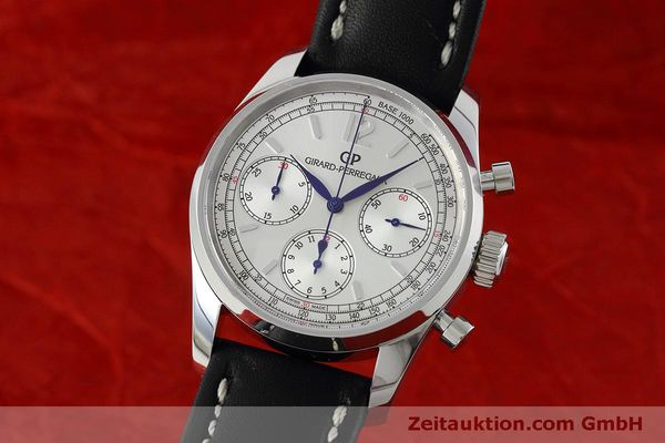 Used luxury watch Girard Perregaux * chronograph steel automatic Kal. Selita  300 Ref. 49480  | 152565 04