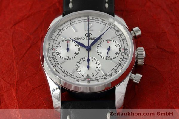Used luxury watch Girard Perregaux * chronograph steel automatic Kal. Selita  300 Ref. 49480  | 152565 15