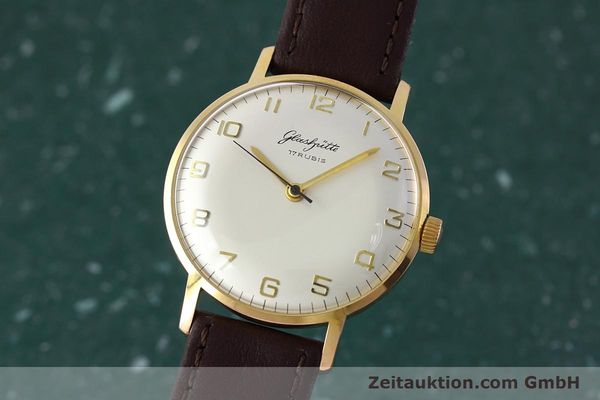 Used luxury watch Glashütte * gold-plated manual winding Kal. 70.1  | 152587 04
