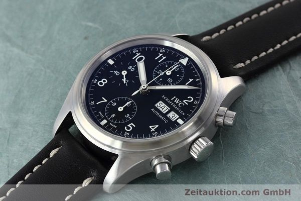 Used luxury watch IWC Fliegerchronograph chronograph steel automatic Kal. 79320 Ref. 3706  | 152588 01