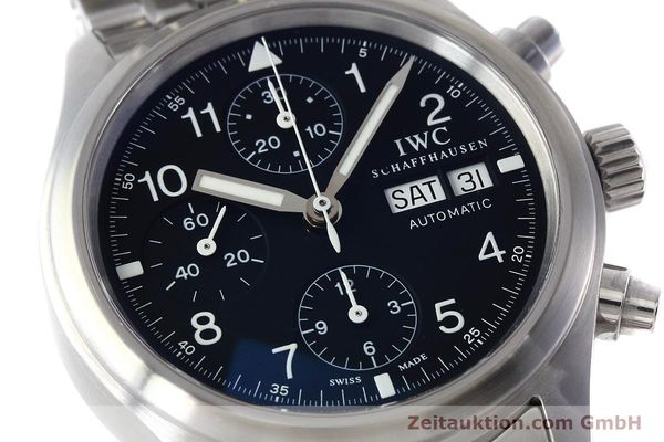 Used luxury watch IWC Fliegerchronograph chronograph steel automatic Kal. 79320 Ref. 3706  | 152588 02