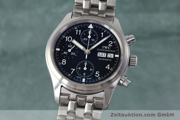 Used luxury watch IWC Fliegerchronograph chronograph steel automatic Kal. 79320 Ref. 3706  | 152588 04
