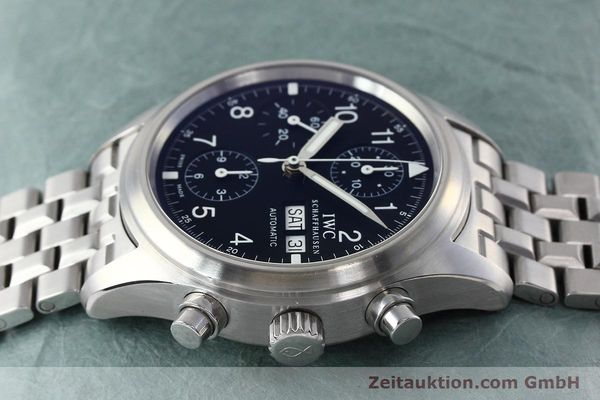 Used luxury watch IWC Fliegerchronograph chronograph steel automatic Kal. 79320 Ref. 3706  | 152588 05
