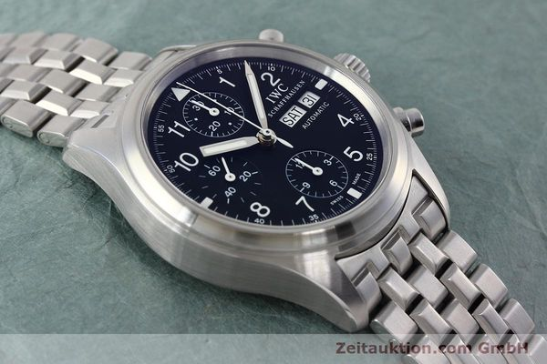 Used luxury watch IWC Fliegerchronograph chronograph steel automatic Kal. 79320 Ref. 3706  | 152588 16