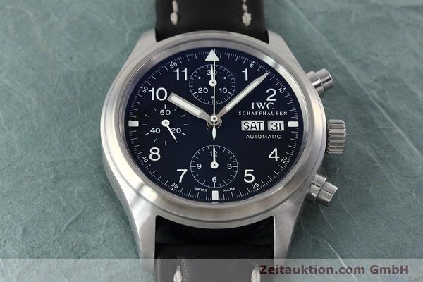 Used luxury watch IWC Fliegerchronograph chronograph steel automatic Kal. 79320 Ref. 3706  | 152588 17