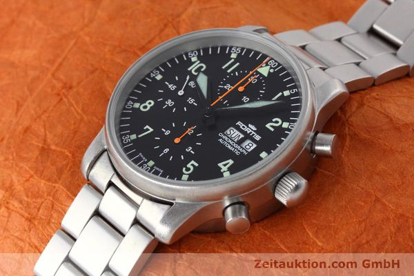 Used luxury watch Fortis Flieger Chronograph chronograph steel automatic Kal. ETA 7750 Ref. 597.10.141  | 152589 01