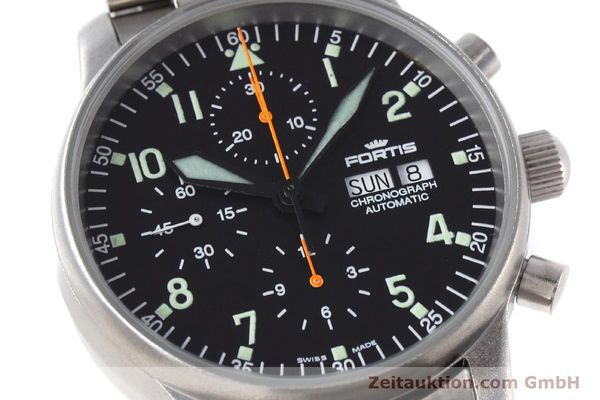Used luxury watch Fortis Flieger Chronograph chronograph steel automatic Kal. ETA 7750 Ref. 597.10.141  | 152589 02